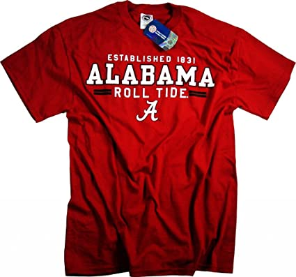 Alabama Crimson Camiseta de Manga Corta T-Camiseta de Manga Corta ...