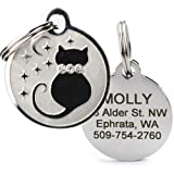 GoTags Designer Pet ID Tags in Stainless Steel for