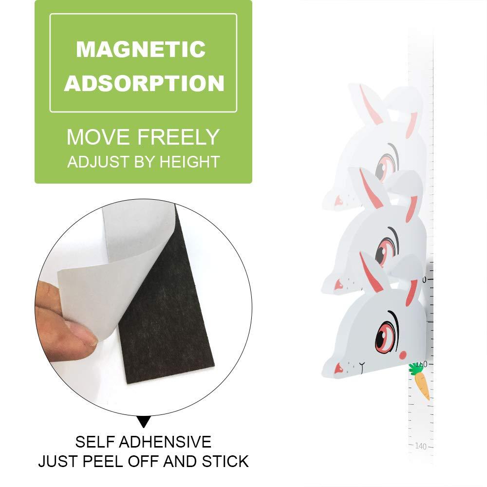 WPT 3D Elephant Growth Chart Height Ruler Magnetic Measurement Removable EVA Header Portable Decals Children/¡s Room Kindergarten