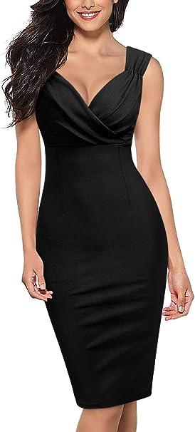 Amazon.com: Knitee - Vestido de cuello en V para mujer con ...