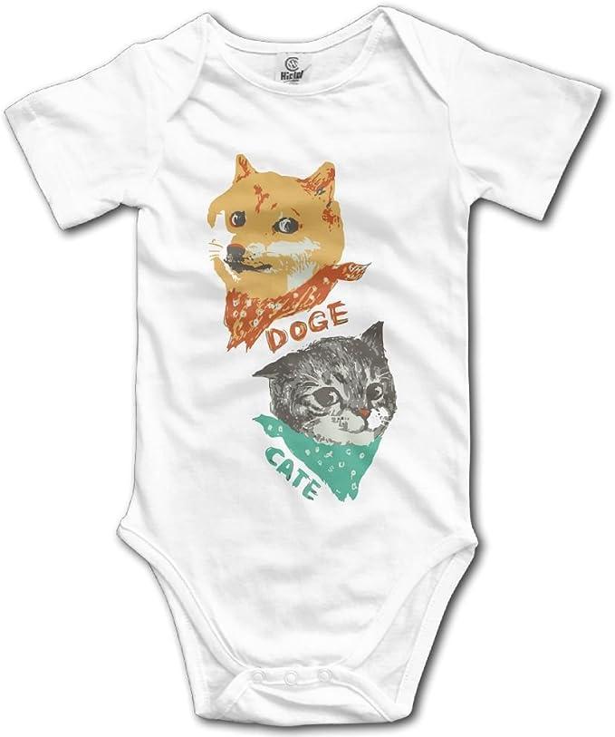 SmallHan Doge and Cate - Mono para bebé (Unisex), Color Blanco - Blanco - recién Nacido: Amazon.es: Ropa y accesorios