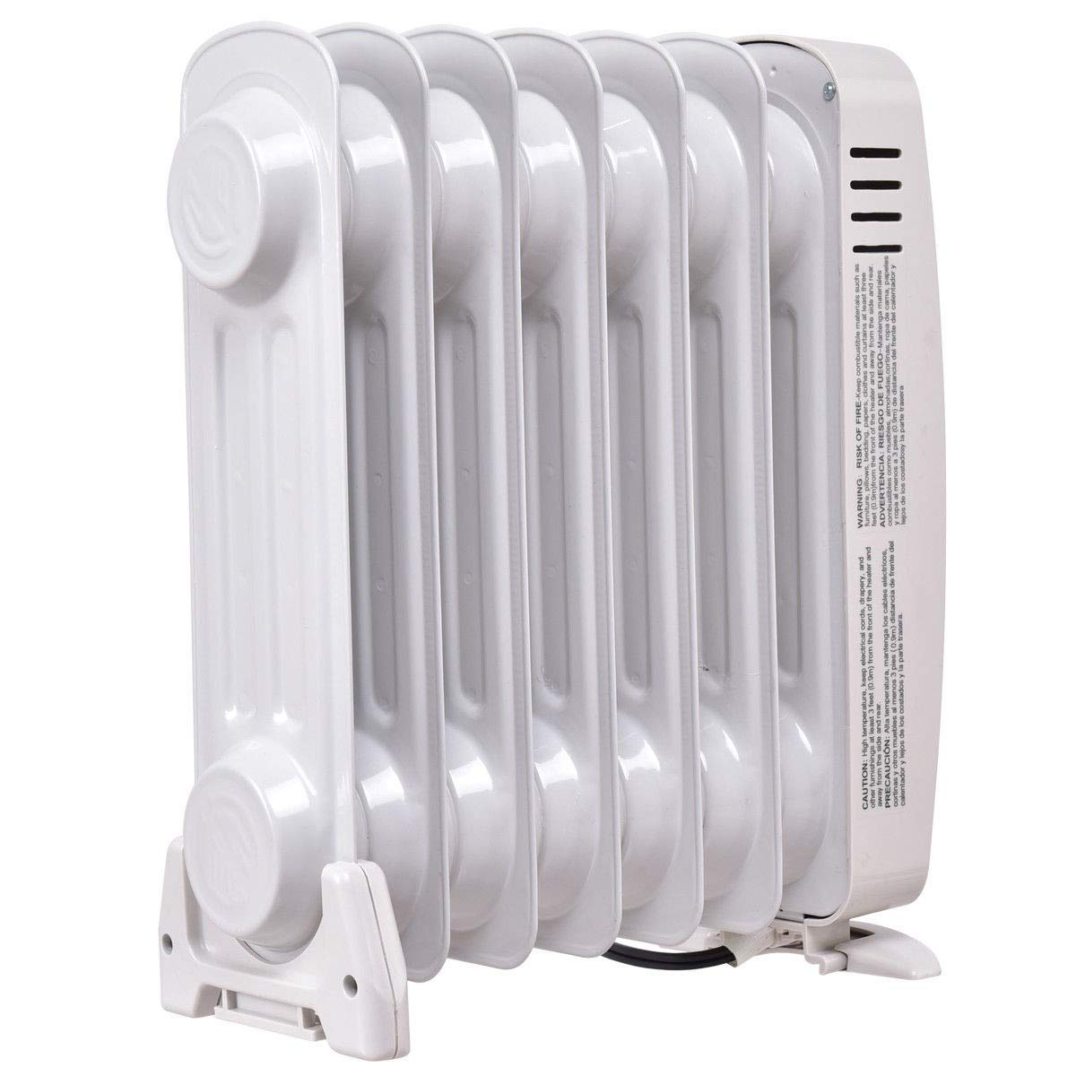 Amazon.com: Radiator Heater Portable Mini Oil Filled Electric 700 W Space Thermostat Silent Operation MD Group: Home & Kitchen