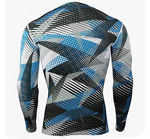 Collant Uomo Compressione 5 Lunga Fitness Palestra Style Sport Dazisen Maglietta Set Traspirante Manica amp; Pantalone PdagBwq