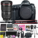 Canon EOS 5D Mark IV 30.4 MP Digital SLR Camera (Wi-Fi, GPS Enabled) PROFESSIONAL PHOTOGRAPHER Lens Kit with EF 16-35mm f/2.8L III USM Lens & Premium Camera Works Accessory Bundle