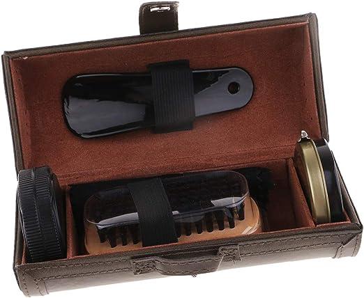 Baoblaze Kit de Nettoyage Chaussure avec Cirage pour Nettoyeur Entretien Soin de Bottes en Daim Suède Nubuck Chaussure en Cuir Vert, comme décrit
