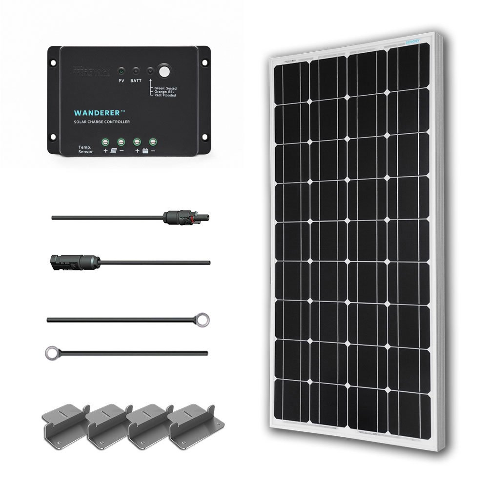 Upgrading My Rv Battery Bank And 12 Volt System Renogy 100 Watts Volts Monocrystalline Solar Starter Kit W 100w Panel 30a Pwm Negative Ground Charge Controller Mc4 Connectors