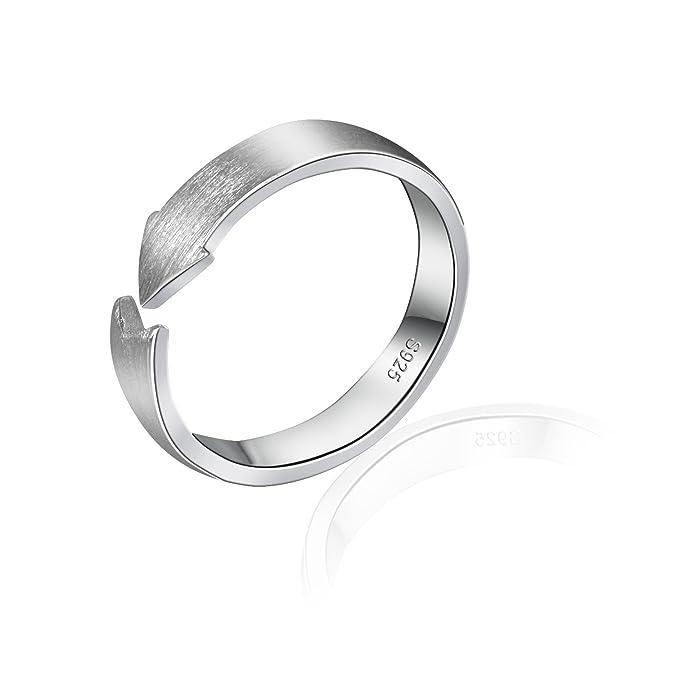 Amor Pfeil 925 Sterling Silber Draht Zeichnen Schlagring Ring ...