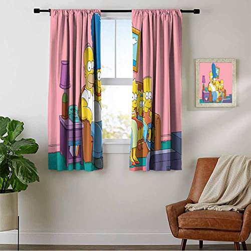 Reviewed: ZhiHdecor Bedroom Curtains 2 Panel Sets The Simpsons Original 1G.Jpg Noise Reducing Curtain
