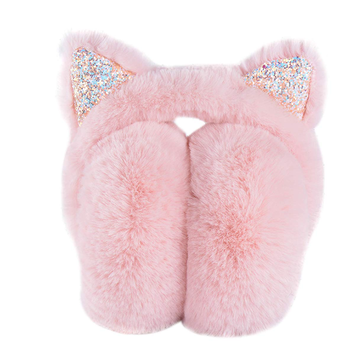 HSZL-EZ012-PINK-JP pink Elezay Unisex Foldable Ear Warmers Polar Winter EarMuffs Outdoor Cold Weather