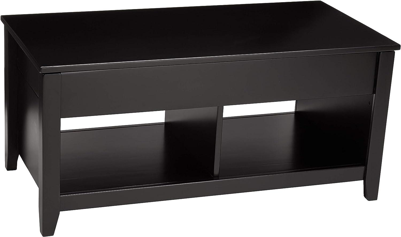 Basics Lift-Top Storage Coffee Table, Black: Kitchen & Dining
