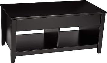 Amazon Com Amazon Basics Lift Top Storage Coffee Table Black Furniture Decor