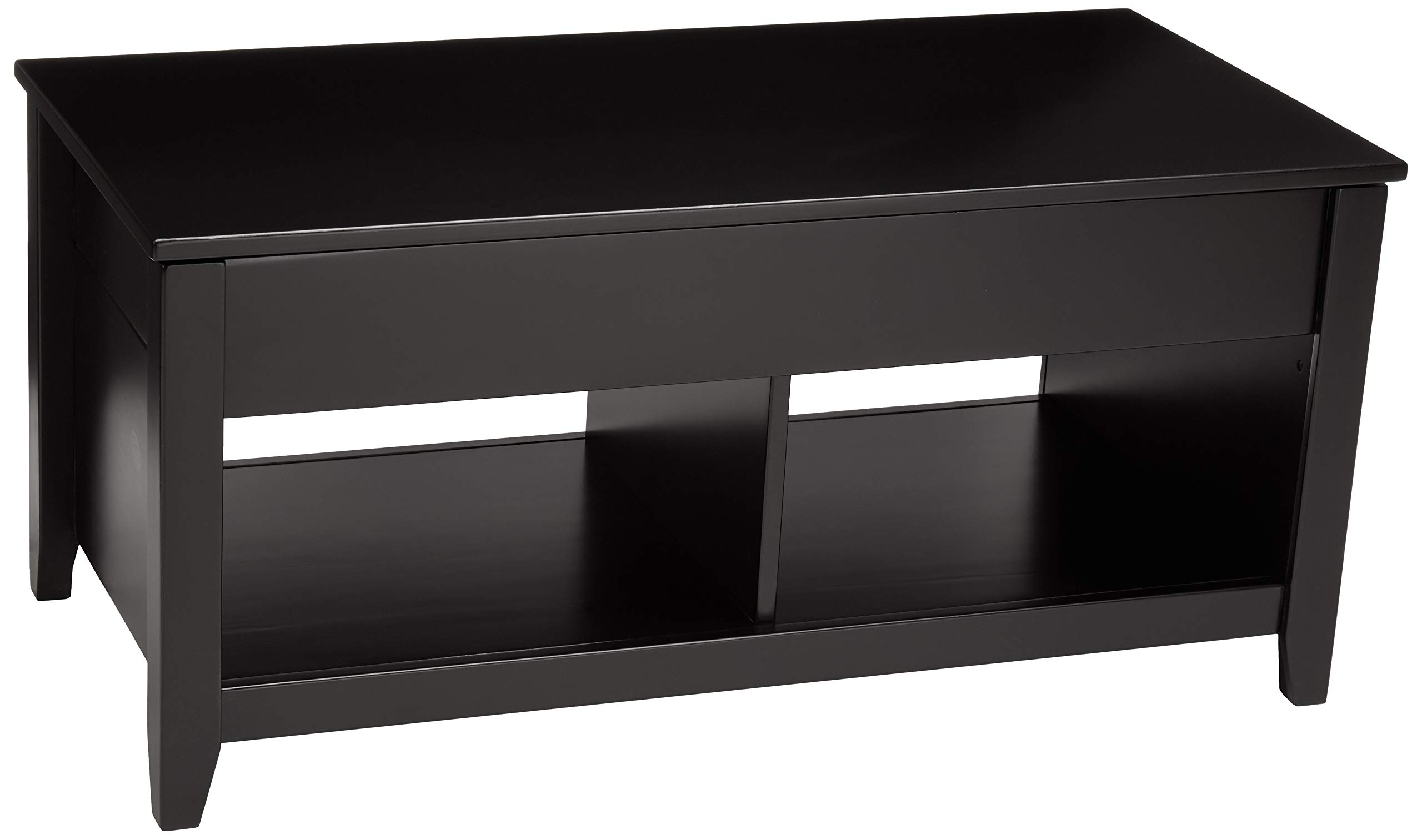 AmazonBasics Lift-Top Storage Coffee Table, Black by AmazonBasics
