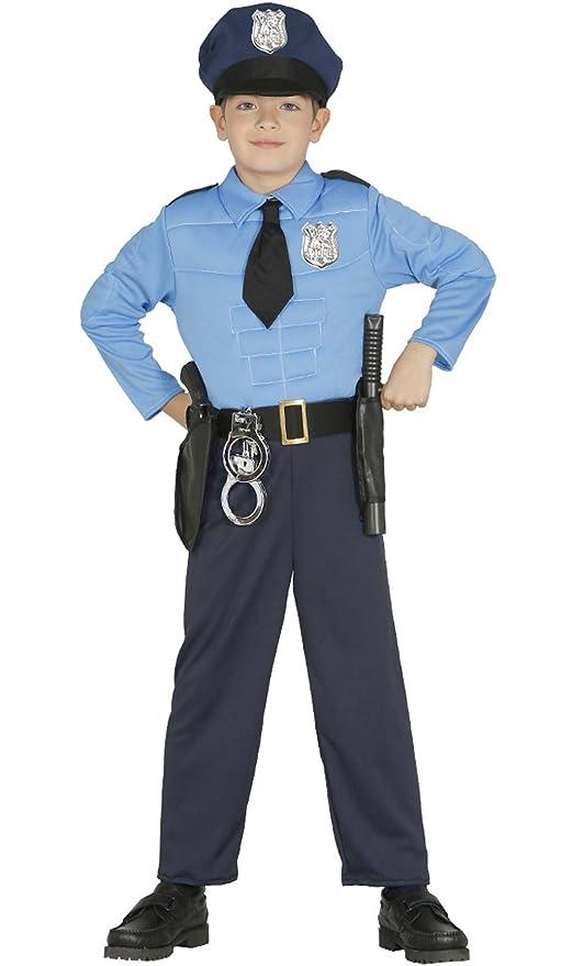 Disfraz de Policía Musculoso para niño: Amazon.es: Juguetes ...