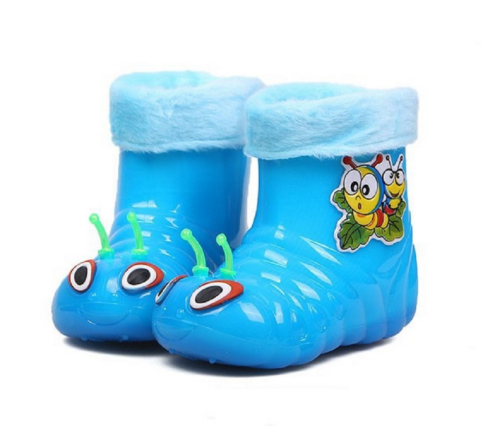 MOKRIL Kids Baby Girls Boys Lightweight Short Rain Boots, Various Sizes and Colors Available (9 M US Toddler, Blue)