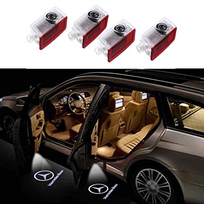 4PCS Car Door LED Light Projector Ghost Shadow Lights Welcome Lamp Door Logo Lights: Home Improvement