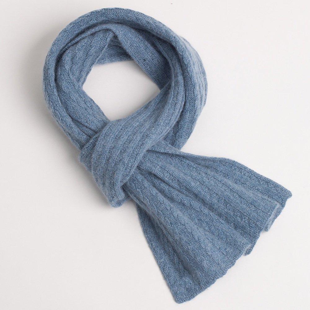 LJHA La sciarpa sveglia dello studente sveglia del Knit di inverno delle donne delle sciarpe è disponibile (formato: 180 * 20cm) ( Colore : Blu , dimensioni : 180*20CM )