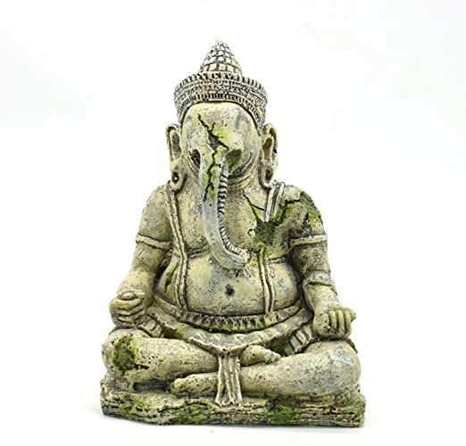 Urijk Aquarium Dekoration Ganesh Statue Von Buddha Statue Aquarium Deko Exotische In 1 9 8 5 17 5cm Urijk Amazon De Kuche Haushalt