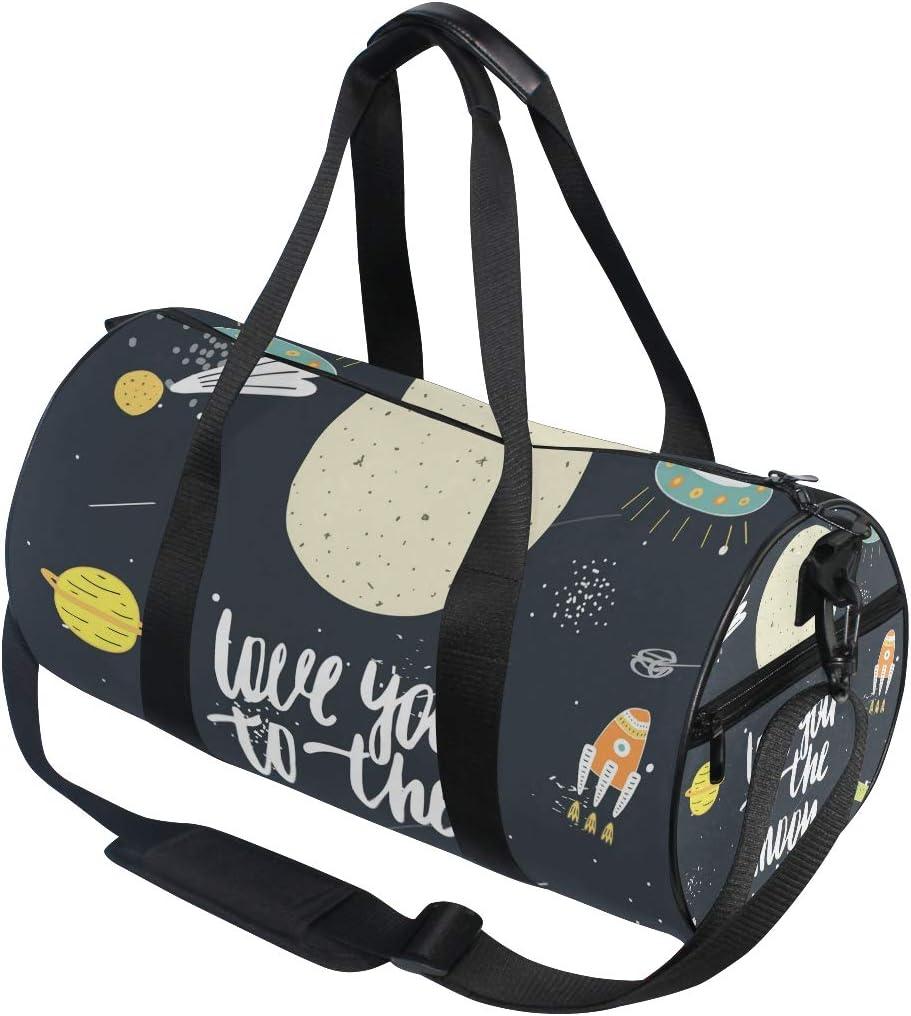 MALPLENA Explore Spaceflight Drum gym duffel bag women Travel Bag