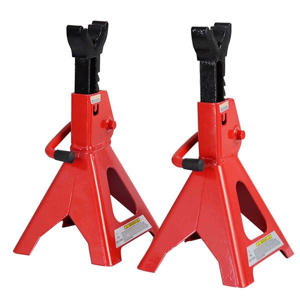 3 Ton Heavy Duty Jack Stands Ratcheting Set Pair Height Adjustable Car Truck