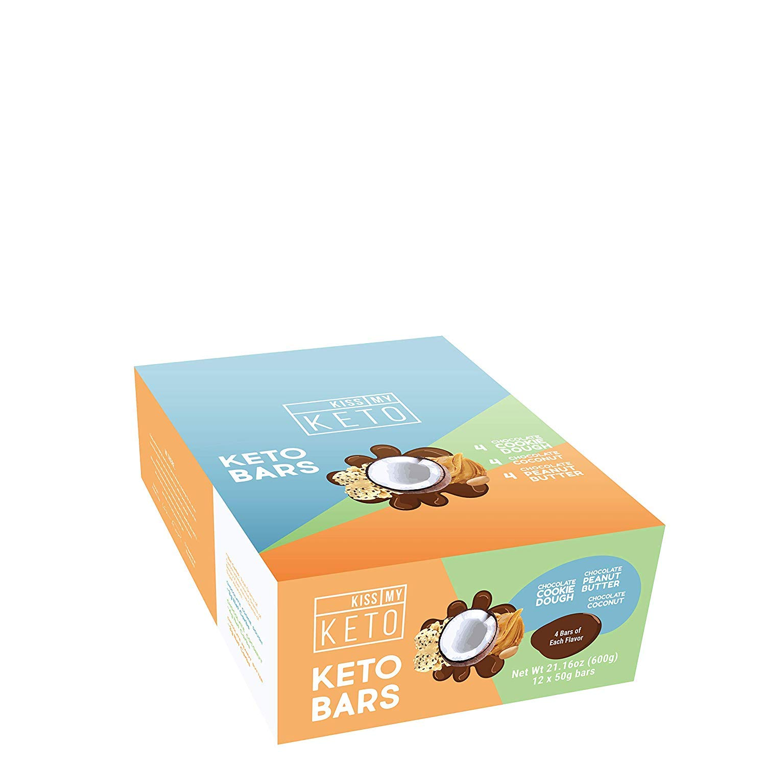 Kiss My Keto Snacks Keto Bars - Keto Chocolate Variety Pack (12) Nutritional Keto Food Bars, Paleo, Low Carb/Glycemic Keto Friendly Foods, Natural On-The-Go Snacks, Quality Fat Bars 3g Net Carbs by Kiss My Keto (Image #6)