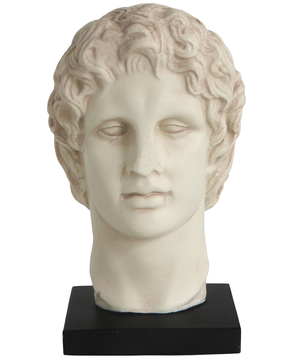 Culture Spot Bust of Alexander the Great, Stone Finish Statue