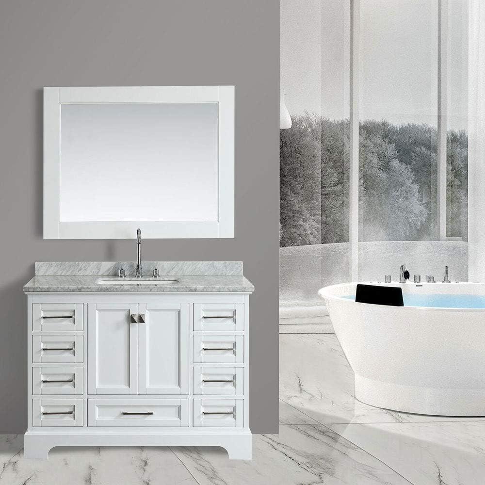 Design Element DEC068C-W 48-inch Bathroom Vanity Combo Set in White, 48 Inch