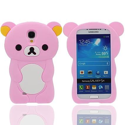 Funda Samsung Galaxy S4, Animales Linda Pequeño Oso Apariencia Suave Silicona Gel / Agarre Cómodo Ajuste Perfecto Carcasa Case para Samsung Galaxy S4 ...