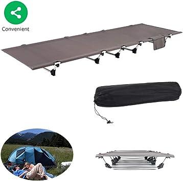 Cama de camping plegable con funda de transporte, portátil y ...