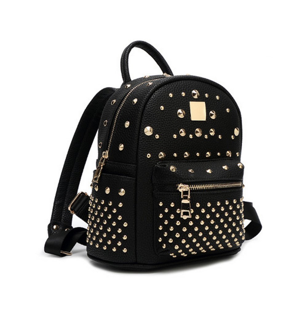 Yaoko Women 's Top Handle Tote Bag Backpack Fashion Schoolbag College Wind For Ladies (Black)