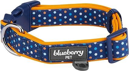 Dog Harness Orange and Blue Polka Dot