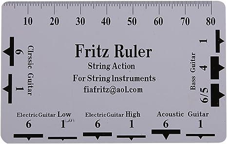 Herramienta Guitarra Cuerdas de Acción Regla, 2Pcs Doble Cara ...