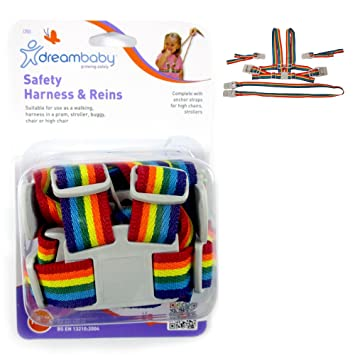 Dreambaby Safety Harness /& Reins Rainbow 18 months colors may vary