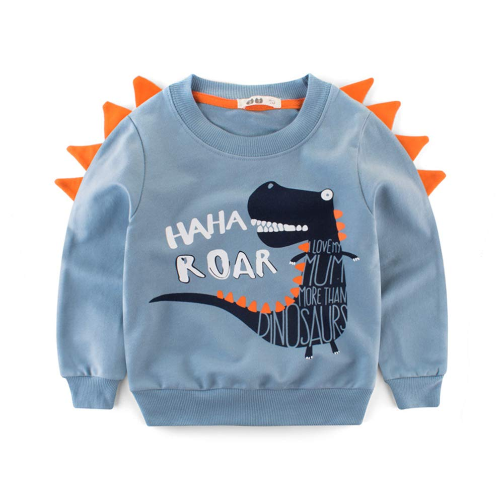 D C.Supernice Kids Long Sleeve T-Shirt Tops Boys Cartoon Dinosaur Print Pullover Age 2-10 Years Children Sweatshirt Child Clothes H1809153505