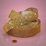"""Gold Jewel Ribbon, 1-1/2"""" X 10Yd"""