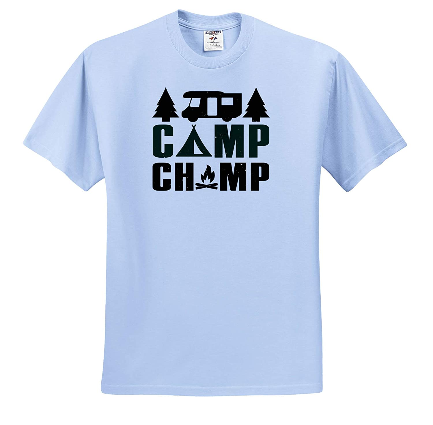 3dRose Anne Marie Baugh Camp Champ Quotes and Sayings ts/_319243 Adult T-Shirt XL