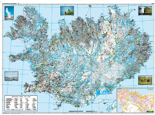 Islandia, mapa de carreteras. Escala 1:400.000. Freytag & Berndt.: Wegenkaart 1:400 000 Auto karte: Amazon.es: VV.AA.: Libros