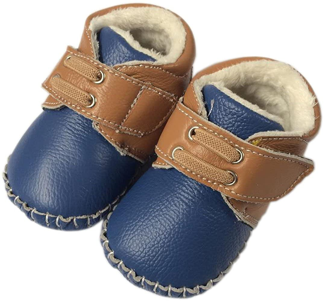 Amazon.com | Jiazibb Leather Unisex Baby Infant Toddler Prewalker First Walkers Snow Boots Red | Shoes