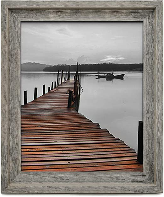 Individual Rustic Picture Holder Photo Family Frame in Brown /& Grey Home Decor