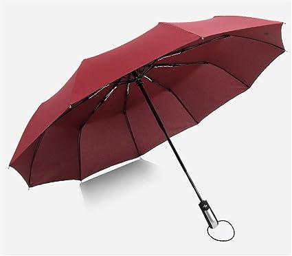 xiangyingzhijia Paraguas de Paraguas de Mujer Paraguas de Hombre Paraguas Sombrillas Sombrillas, Rojo