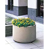Wausau Tile - TF4124W22 - Planter, Round, 48in.Lx48in.Wx36in.H