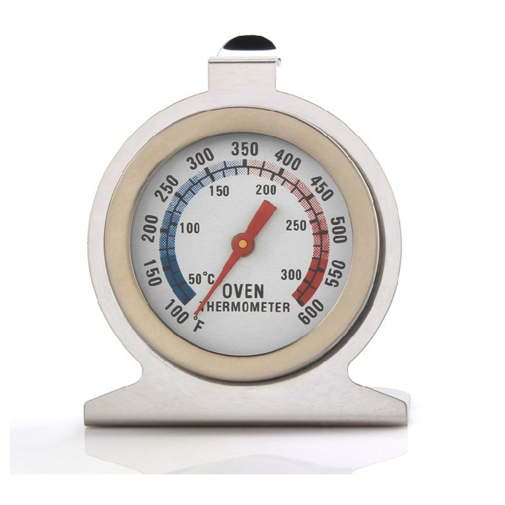 homiki Oven Thermometer Hang or Stand for Oven or Food Grade High Precision Dial Stainless Steel Pressure Cooker PG