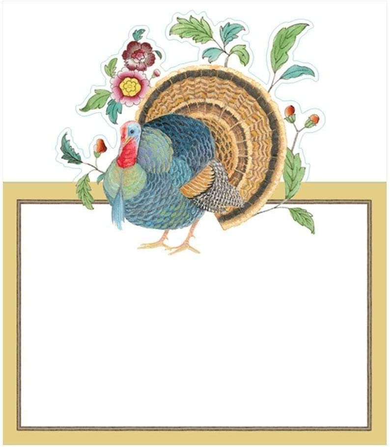 Caspari Thanksgiving Setting Die-Cut Place Cards 24 Included