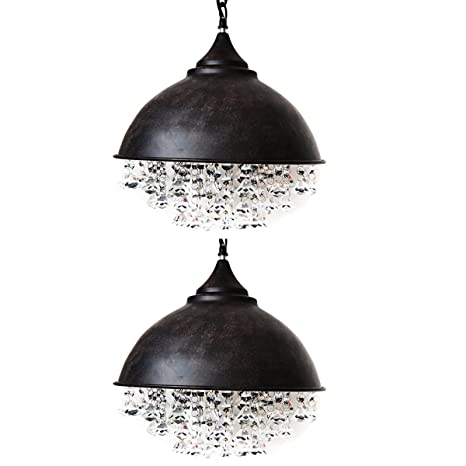 rustic crystal chandelier bronze industrial retro crystal chandelier motent 13 inches dia vintage rustic dome shaped glittering