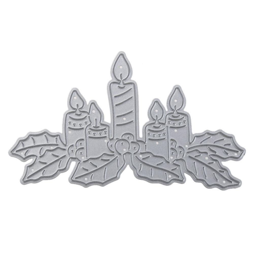 demiawaking Weihnachten Kerze DIY Schablone Pr/ägung Scrapbook Craft Metall schneiden sterben