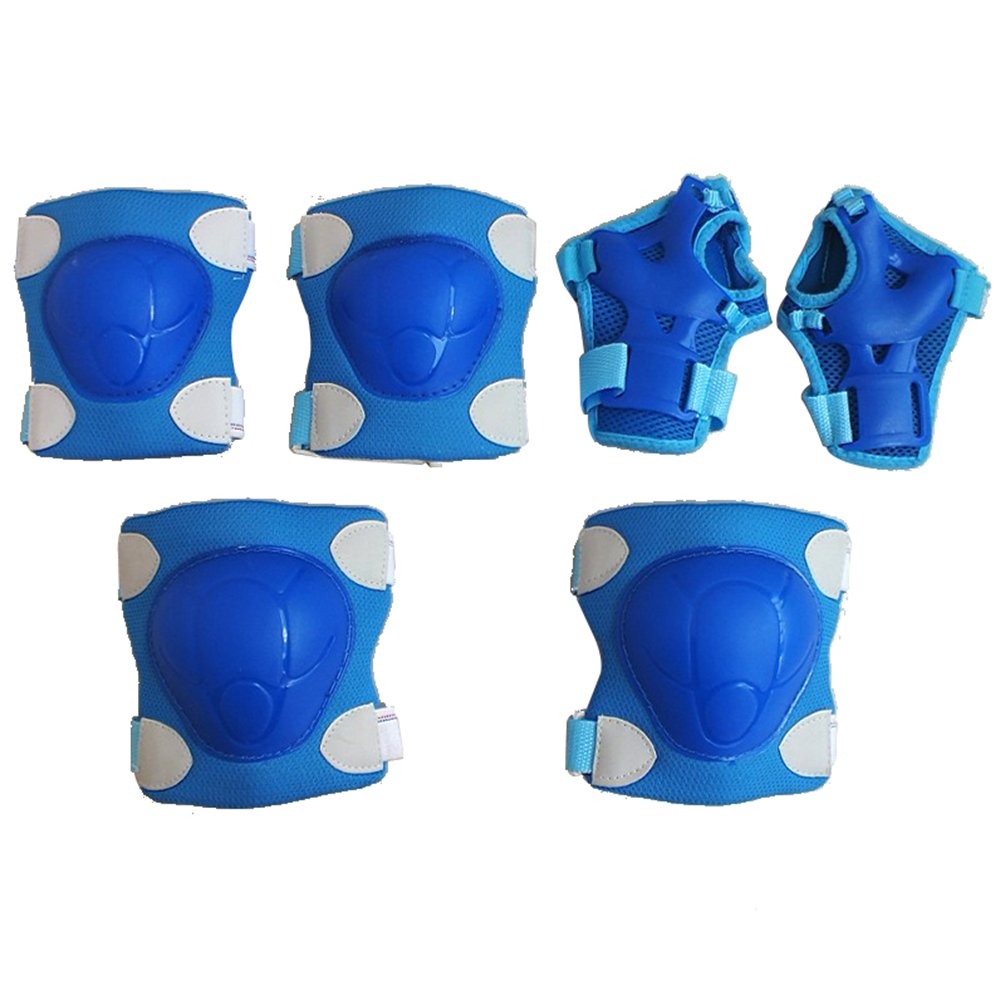 AODEW 6Pcs Kids Sport Protective Gear Knee Pads and Elbow Pads with Wrist Guards for Cycling, Skateboard, Scooter, Bmx, Bike and Other Extreme Sports Activities by AODEW