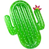 LetsFunny 68in Inflatable Cactus Pool Floats,Large Outdoor Swimming Pool Inflatable Float