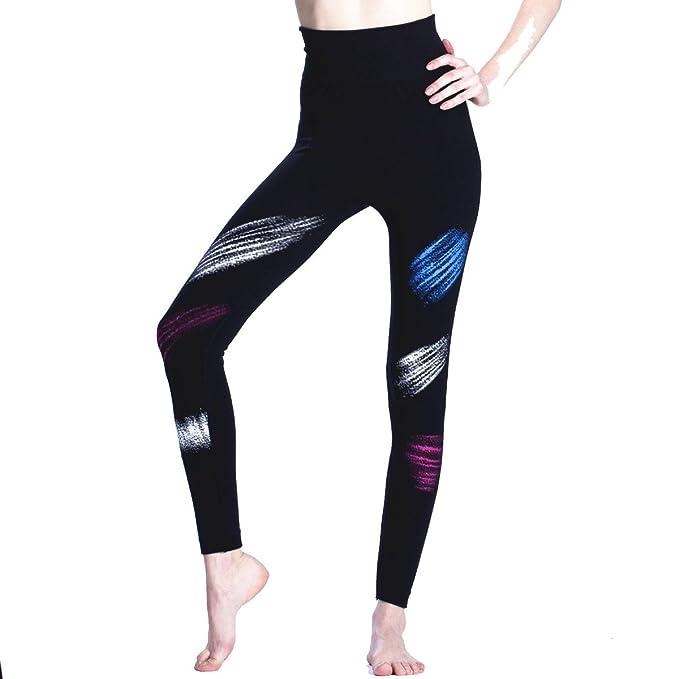 Señoras Pantalones De Deportes De Pintura Sin Costura Deportes Yoga ...