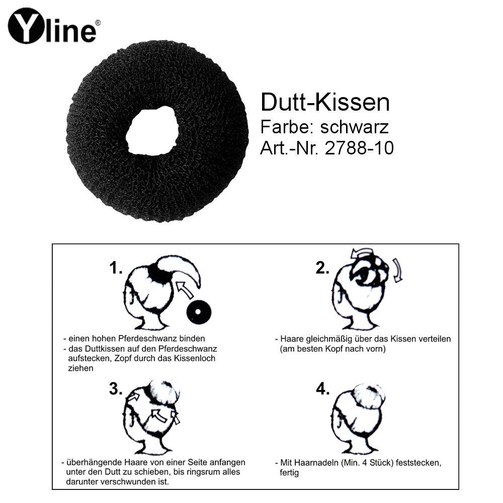 1 Haar Dutt Haarkissen Schwarz Ca 8 Cm Form Ring Donut Kissen