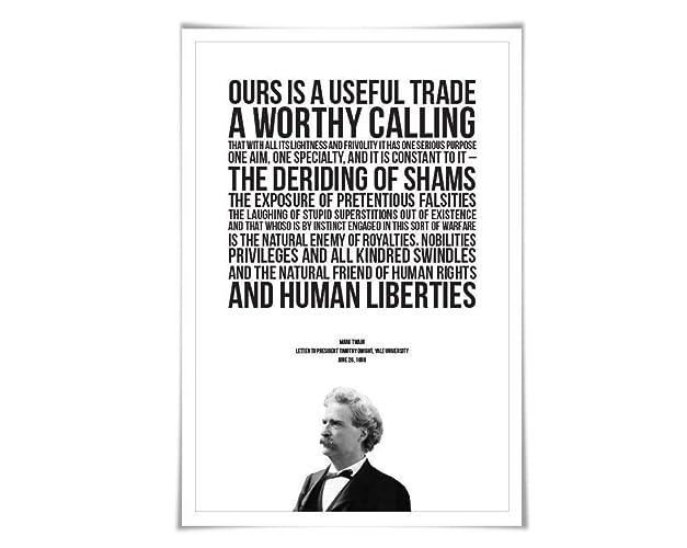 Amazoncom Mark Twain Quote Art Print 3 Sizes Journalism Poster