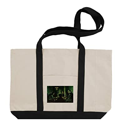 free shipping Study For The Potato Eaters (Van Gogh) Cotton Canvas Boat Tote Bag Tote